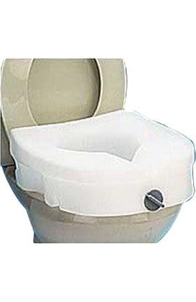 "Carex Health E-Z Lock Raised Toilet Seat 5"" 300lb Capacity"