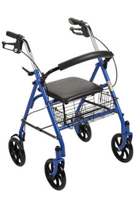 Drive Medical Durable 4 Wheel Rollator With Foldup Removable Back