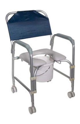 Drive Medical Aluminum Shower Chair & Commode With Casters