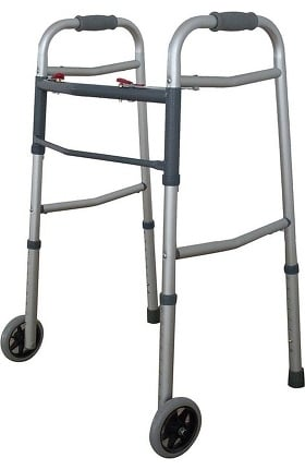Cardinal Health ReliaMed Dual Button Folding Walker