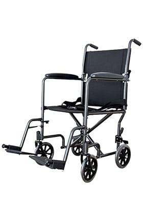 "Cardinal Health ReliaMed Transport Chair With Swing Away Foot Rest 19"" Width Steel"