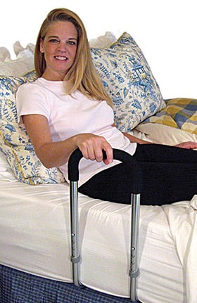 "Mobility Transfer Systems Freedom Grip Plus Bed Rail 24½"" Height x 9"" Width Handle With Bed Board"