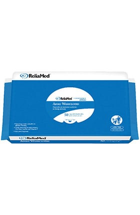 "Cardinal Health ReliaMed Soft Pack Wipes 12"" x 8"" 50 Pack"