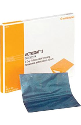 "ACTICOAT Antimicrobial Barrier Burn Dressing With Nanocrystalline Silver 8"" x 16"" Box of 6"