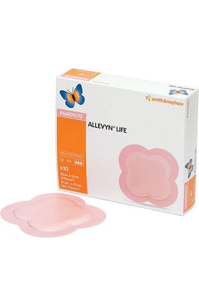 "ALLEVYN Life Foam Dressing Sterile 4"" x 4"" Box of 10"