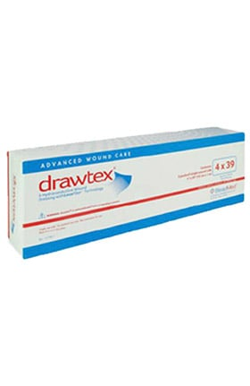"Drawtex Hydro-Conductive Wound Dressing 4"" x 39 Box of 5"
