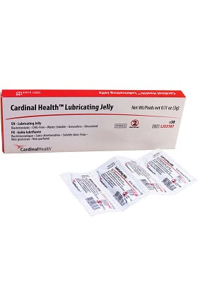 Cardinal Health Lubricating Jelly 3g Foil Packet Box of 144