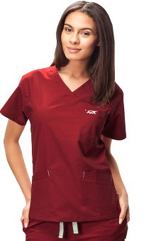 IguanaMed Women's Classic 3-Pocket V-Neck Solid Scrub Top