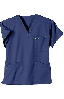 Clearance IguanaMed Women's Classic 3-Pocket V-Neck Solid Scrub Top