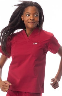 unisex tops: IguanaMed Unisex Stealth 1-Pocket Solid Scrub Top