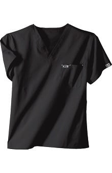 IguanaMed Unisex Stealth 1-Pocket Solid Scrub Top