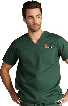 IguanaMed Unisex Collegiate Stealth Solid Scrub Top