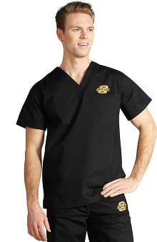 Clearance IguanaMed Unisex Collegiate Stealth Solid Scrub Top
