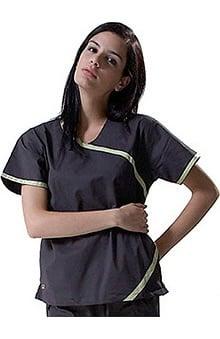 Clearance IguanaMed Women's Crossover Solid Scrub Top