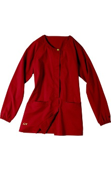 dental : IguanaMed Women's Core Concealed Snap Solid Scrub Jacket