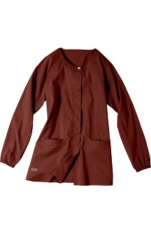 Clearance IguanaMed Women's Core Concealed Snap Solid Scrub Jacket