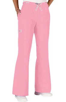 clearance10: Jasco by allheart Women's Ribbon-Trim Flare Leg Scrub Pants