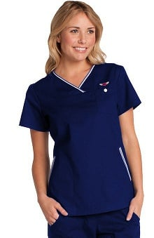 koihappiness.com: Koi Women's Ashley Crossover V-Neck Solid Scrub Top