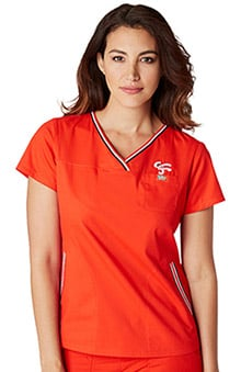 koi by General Mills® Women's Ashley Crossover V-Neck Solid Scrub Top