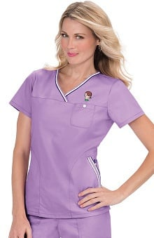 Koi Women's Ashley Crossover Solid Scrub Top