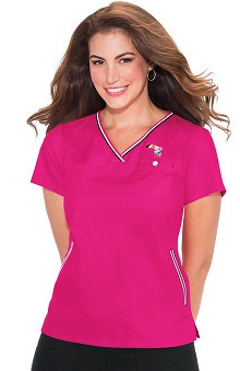 koi by Kellogg's® Women's Ashley Crossover Solid Scrub Top