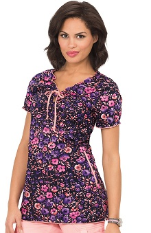 Clearance koi Prints Women's Bridgette V-Neck Floral Print Scrub Top