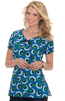 Clearance koi Prints Women's Bridgette Floral Print Scrub Top