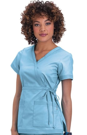Clearance koi Women's Katelyn Wrap Solid Scrub Top