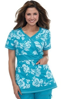 Clearance koi Women's Rylee Flower Print Scrub Top