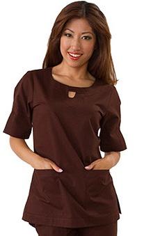 Clearance koi Women's Trina Keyhole Neckline Solid Scrub Top