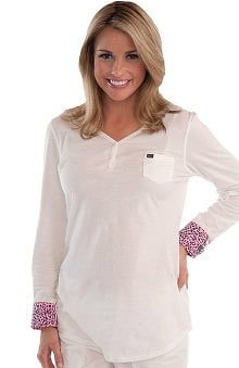 Clearance koi Women's Carrie Long Sleeve Underscrub with Printed Cuffs