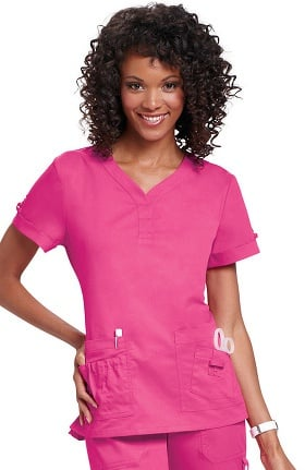 Clearance koi Women's Erica Multi Pocket Solid Scrub Top