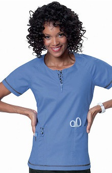 Medical Devices new: koi Limited Edition Women's Jasmine Zip Neck Top