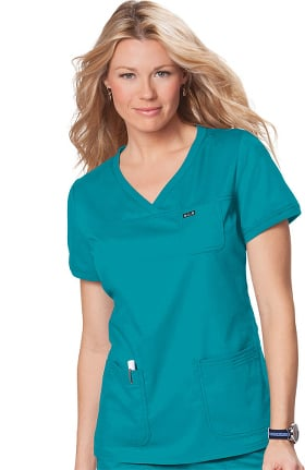 koi Comfort Women's Nicole Crossover V-Neck Solid Scrub Top