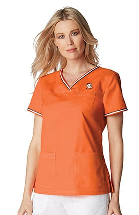 koi by tokidoki Women's Nicole Crossover V-Neck Solid Scrub Top