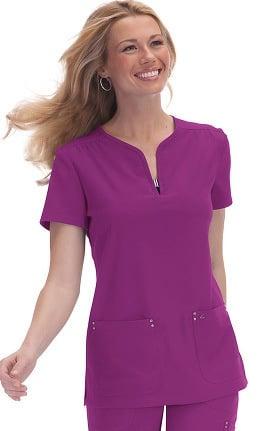 Clearance koi Sapphire Women's Mara Y-Neck Solid Scrub Top