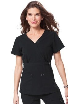 Clearance koi Sapphire Women's Sherri Crossover V-Neck Solid Scrub Top