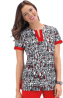 Clearance koi Women's Ella Print Scrub Top