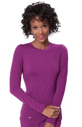Clearance koi Sapphire Women's Sandra Long Sleeve Crewneck T-Shirt
