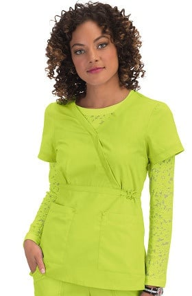 Clearance koi Classics Women's Amy Mock Wrap Scrub Top