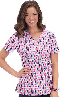 Clearance koi Women's Kendra Crossover Print Scrub Top