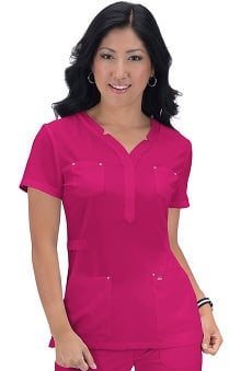 koi Sapphire Women's Francesca Stretch Scrub Top