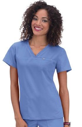 koi Sapphire Women's Cora V-Neck Solid Scrub Top