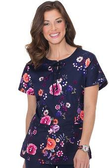 koi Women's Miranda Raglan Sleeve Floral Print Scrub Top