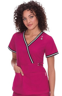 Clearance koi Women's Juliana Mock Wrap Scrub Top