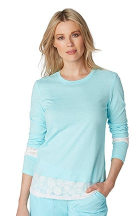 koi Women's Elizabeth Long-Sleeve Lace T-Shirt