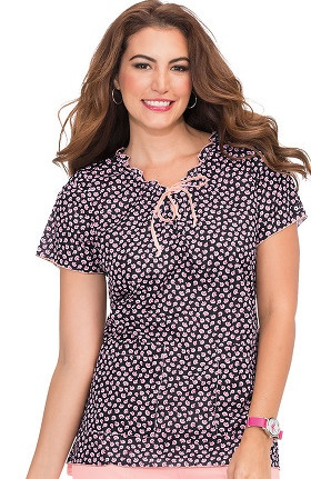 Clearance Koi Prints Women's Emma V-Neck Floral Print Scrub Top