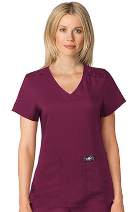koi TECH Women's Andi V-Neck Solid Scrub Top