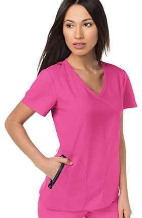 koi Lite Women's Unity Mock Wrap Solid Scrub Top