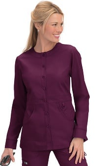 koi Women's Olivia Round Neck Solid Scrub Jacket